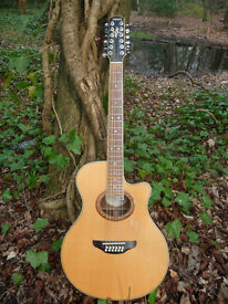 Yamaha APX-8-12A. Electro acoustic 12 string. Players condition. With case.
