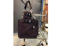 New with tag Jaeger leather bag & matching purse