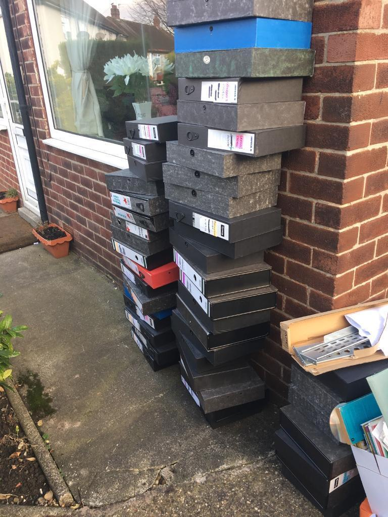 Box files approx 50 in good condition