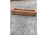 Rustic trough planters / wall planters