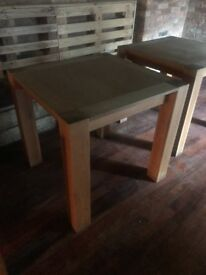 Square oak table