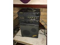 Vintage Retro Binatone Home Karaoke System Stereo Tuner / Twin Cassette Radio In Good Condition Used