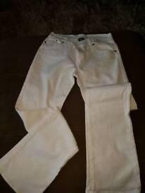 White Victoria Beckham jeans
