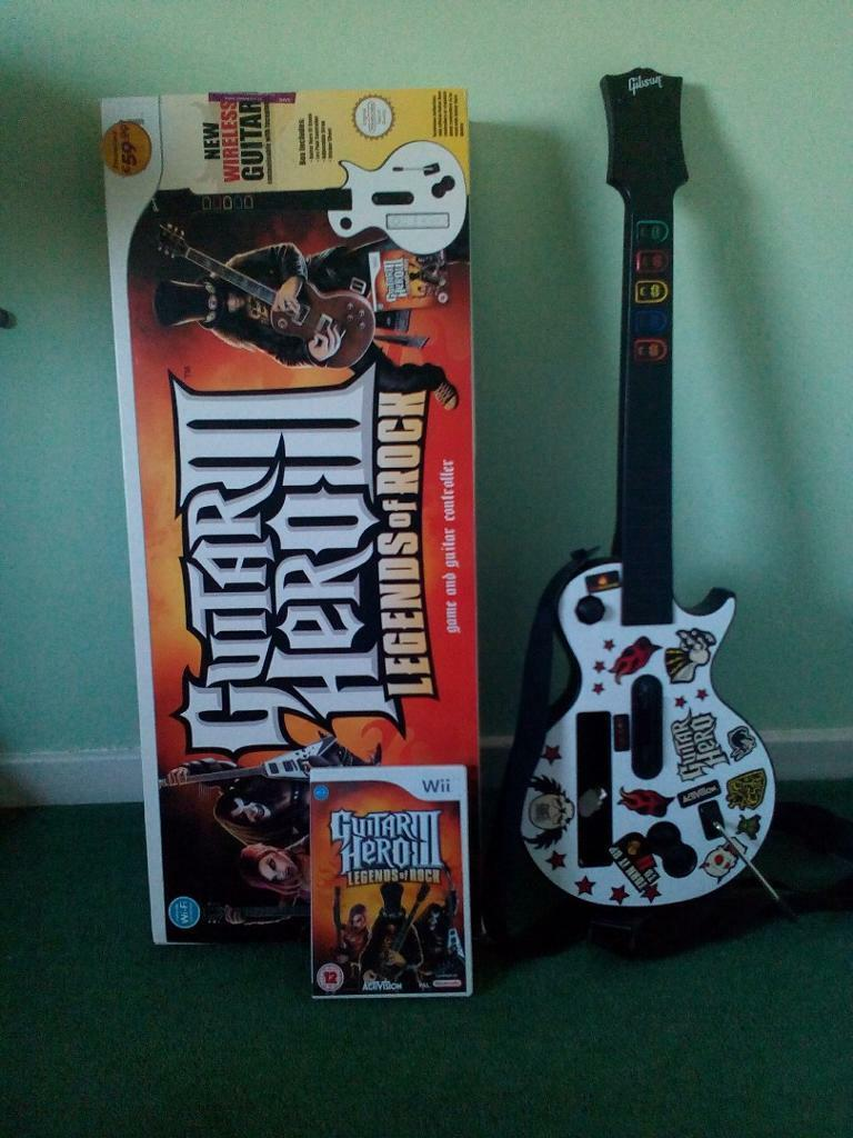 WII GUITAR HERO 3 LEGENDS OF ROCK *** PRICE REDUCED | in ...