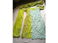 """Pakistani ladies suit 3 pieces chest size 40"""" size 12 short sleeves used few times £5"""