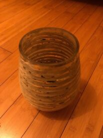 Glass decorative vase like new