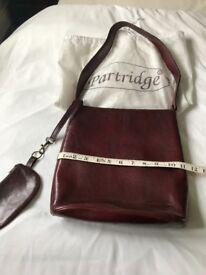 Leather Shoulder Handbag (Partridge)