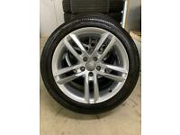 """Genuine 18"""" Audi A6 S Line alloy wheels and tyres"""