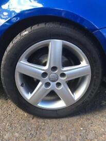 "Audi S line Alloys 17"" X 5 with good tyres"
