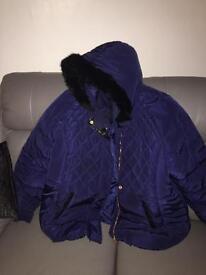 Navy coat fur