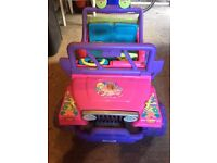 Childrens Battery powered Barbie Jeep / car