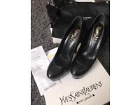 Yves Saint Laurent heel with receipts size 4 worth £565