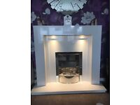 Marble Fireplace with electric as new condition
