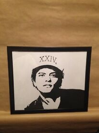 Hand Painted Bruno Mars