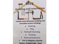 FREE ESTIMATE: PLASTERING, TILING, PAINTING and more...
