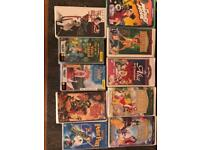 9 U.S.A NTSC format VHS tapes, except 1 (Peter Pan) British PAL format VHS tape.