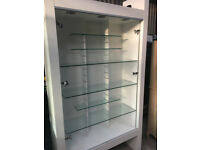 Large White Display Cabinet