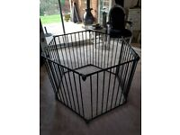 Baby/Toddlers playpen, black metal adjustable