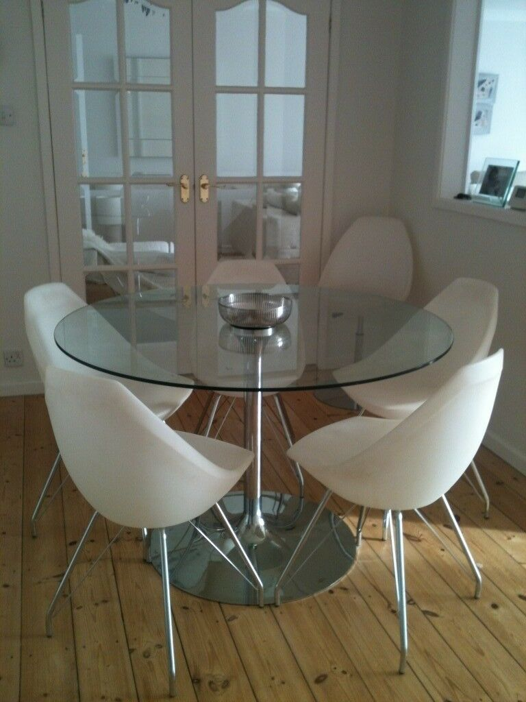 Glass Round Dining Table And Chairs Barker Stonehouse