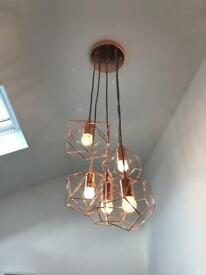 Copper light pendant