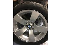 """New genuine 17"""" BMW alloy wheels and winter RFT tyres 245 45 17 , 5x120 , 5 6 series"""