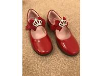 REDUCED PRICE Lelli Kelli Red Patent shoe 32F Great for Christmas