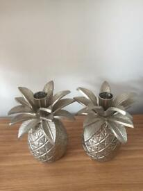 Laura Ashley pineapple candle holders