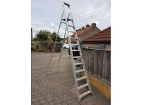 SOLD! SOLD! SOLD!Aluminium Platform Stepladder 12 Steps 3.52m (closed) 3.2m (opened)