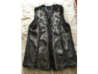 Faux fur grey gilet