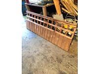 Dark oak fence panels with trellis