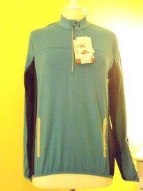 Mens Crane Winter Cycling Shirt. Blue. – Size Medium