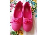 ADIDAS neo pink ballet pumps sz 7