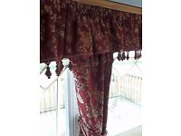 Static caravan curtains. Bespoke make, heavy material, all fully lined