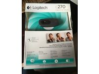 Unused Logitech webcam still in packaging