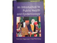 University book for sale. An introduction to Public Health and Epidemiology