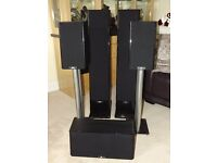 BARGAIN STAGE HOME CINEMA 5 X SPEAKERS EXCELLENT CONDITION SELLING ONLY AS MOVING