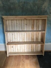 Lovely Old Pine Bookcase / Shelving Unit