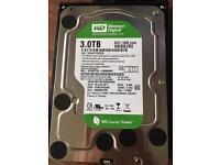 3TB 3.5 inch Western Digital SATA WD30EZRX,