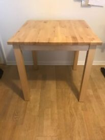 Square solid wood dinner table