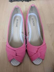 Pink wedges /shoes size 6