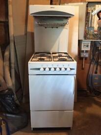 Beko Cascade 50 gas cooker with eye level grill.