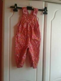 M&S girls dungarees 6-9month