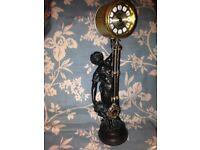 Antique American Ansonia Swinging Arm Mystery Clock Diana Bronze Circ 1890