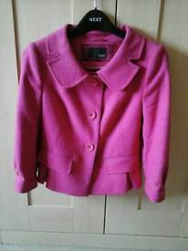 Womens pink jacket size 10R Next
