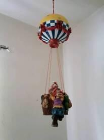 1998 Veronese Ceramic Hot Air Balloon with Clowns