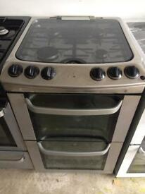Stainless steel tricity bendx 55cm gas cooker grill & double ovens good condition with guarantee