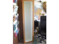 """Glass fronted display cabinet 5'6"""" high with 9 glass shelves"""
