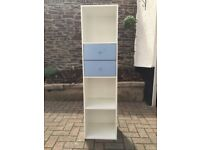 White and light blue bathroom storage cabinet, vgc, £20