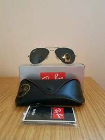 Ray-ban aviator sunglasses silver