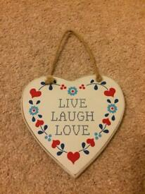 Heart shaped wall hanging